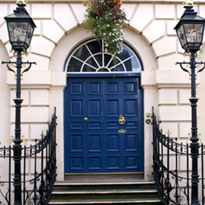 Illustrative image of blue doors