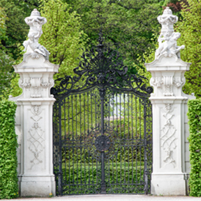 Illustrative image of iron gates